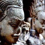 Faces Of Angkor Art Print