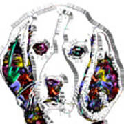 Faces Of Life 37 Beagle Art Print