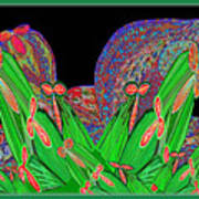 Facination For Cactus Plants And  Flower Art Print