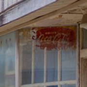 Faded Coca-cola Sign #vanishingtexas Storefront Rosebud Art Print