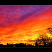 Fair Oaks Sunset Art Print