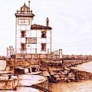 Fair Port Harbor Art Print
