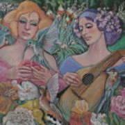 Faire Garden Art Print