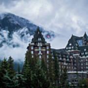 Fairmont Springs Hotel In Banff, Canada Art Print