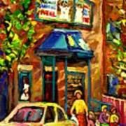 Fairmount Bagel In Montreal Art Print