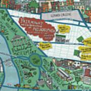 Fairmount Neighborhood Map Art Print