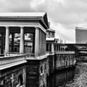 Fairmount Water Works In Black And White Art Print