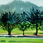 Fairway Junipers Art Print