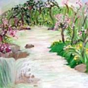 Fairy Blossom Falls Art Print