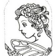 Fairy Cameo Art Print