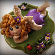 Fairy In Purple Art Print by Trina Prenzi