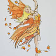 Fall Fairy Art Print