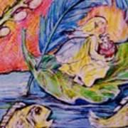 Fairy On The River. Art Print
