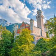Fairytales From Neuschwanstein Castle Art Print