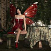 Fairy Tea Time Art Print