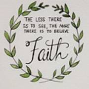 Faith Laurel Wreath Art Print