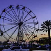 Fajitaville Ferris Wheel 2 Art Print