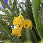 Fake yellow flowers photograph by ori porat fake yellow flowers poster mightylinksfo