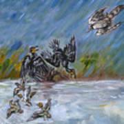 Falcon Attack  Art Print