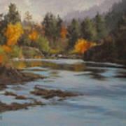 Fall At Colliding Rivers Art Print