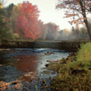 Fall at Griffin Mill Art Print
