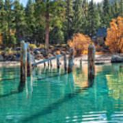 Fall At Skunk Harbor Lake Tahoe Art Print