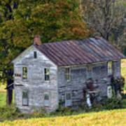 Fall At The Forgotten Farmhouse Art Print