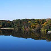Fall At The Riverbend Panoramic Art Print