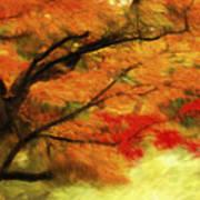 Fall At The Temple Art Print