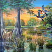Fall Bounty- Big Cypress Swamp  Art Print