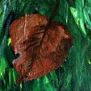 Fall Brown Leaf Art Print