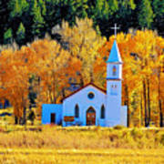 Fall Church Art Print