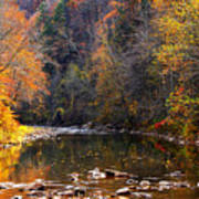 Fall Color Elk River Print by Thomas R Fletcher