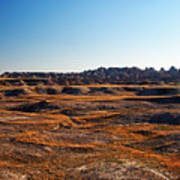 Fall Color In The Badlands Art Print
