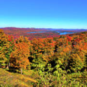 Fall Color On The Fulton Chain Of Lakes Art Print