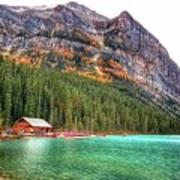 Fall Colors At Lake Louise Alberta  Art Print