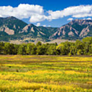 Fall Colors Of Boulder Colorado Art Print
