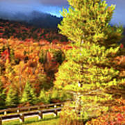Fall Colors On Grandfather Mountain Ap Art Print