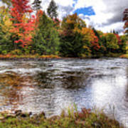 Fall Colors On The Moose River Art Print