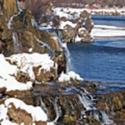 Fall Creek Falls In Winter Art Print