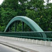 Fall Creek Gorge Bridge Cornell University Ithaca New York Art Print