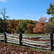Fall Fence Art Print