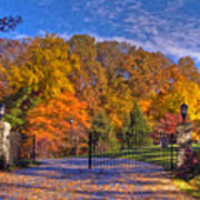 Fall Foliage Gated Estate Art Print