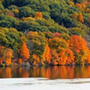 Fall Foliage In Hudson River 14 Art Print