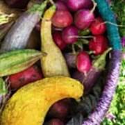 Fall Harvest Basket Art Print