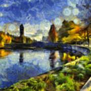 Fall In Riverfront Park Spokane Art Print