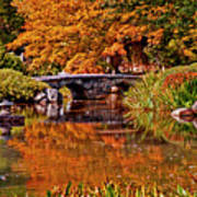 Fall In The Japanese Gardens Art Print
