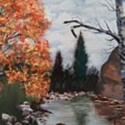 Fall In The Mountains Art Print