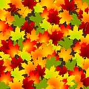 Fall Leaves Quilt Art Print