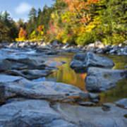 Fall Morning At Swift River Art Print